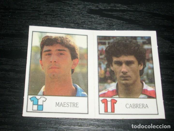 -BOLLYCAO 87-88 : 205 MAESTRE ( SABADELL ) + 253 CABRERA ( GIJON ) (Coleccionismo Deportivo - Álbumes y Cromos de Deportes - Cromos de Fútbol)
