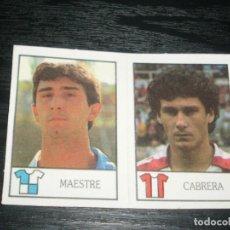 Cromos de Fútbol: -BOLLYCAO 87-88 : 205 MAESTRE ( SABADELL ) + 253 CABRERA ( GIJON ) . Lote 88680620
