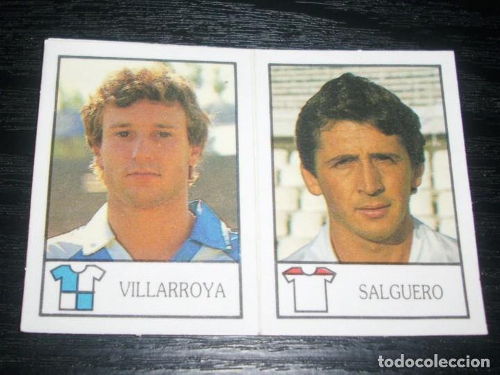 -BOLLYCAO 87-88 : 210 VILLARROYA ( SABADELL ) + 224 SALGUERO ( SEVILLA ) (Coleccionismo Deportivo - Álbumes y Cromos de Deportes - Cromos de Fútbol)