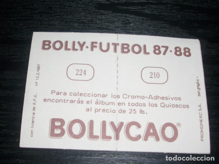 Cromos de Fútbol: -BOLLYCAO 87-88 : 210 VILLARROYA ( SABADELL ) + 224 SALGUERO ( SEVILLA ) - Foto 2 - 88682544