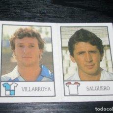 Cromos de Fútbol: -BOLLYCAO 87-88 : 210 VILLARROYA ( SABADELL ) + 224 SALGUERO ( SEVILLA ) . Lote 88682796