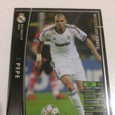 Cromos de Fútbol: CROMO CARD WCCF LIGA 2012-13 PANINI DE JAPÓN REAL MADRID PEPE (TENGO MÁS MIRA MIS LOTES). Lote 88735860
