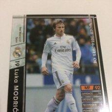 Cromos de Fútbol: CROMO CARD WCCF LIGA 2014-15 PANINI DE JAPÓN REAL MADRID LUKA MODRIC (TENGO MÁS MIRA MIS LOTES). Lote 88738044