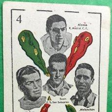 Cromos de Fútbol: CROMO BARAJA UNIVERSO - FÚTBOL - AÑO 1944 - REAL MADRID, BARCELONA, ATLÉTICO AVIACIÓN, CASTELLÓN, . Lote 89102064