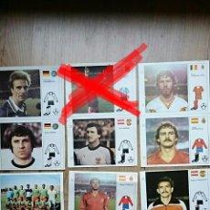 Cromos de Fútbol: LOTE FICHA LAS ESTRELLAS DEL MUNDIAL 82 BRUGUERA RUMMENIGGE TENDILLO SATRUSTEGUI KRANKL VAN MOER. Lote 89314738