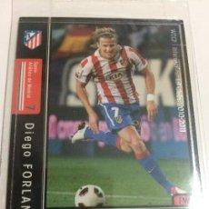 Cromos de Fútbol: CROMO CARD WCCF LIGA 2010-11 PANINI DE JAPÓN AT MADRID DIEGO FORLAN TENGO MÁS MIRA MIS LOTES. Lote 89321788
