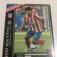 Cromos de Fútbol: CROMO CARD WCCF LIGA 2008-09 PANINI DE JAPÓN AT MADRID SERGIO KUN AGÜERO TENGO MÁS MIRA MIS LOTES. Lote 89322632
