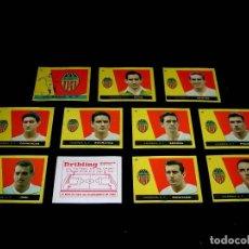 Cromos de Fútbol: 11 CROMOS VALENCIA C.F. *PUBLICIDAD DRIBLING AL DORSO* LIGA 1959 1960, CAMPEONES BRUGUERA. SIN PEGAR. Lote 90127808