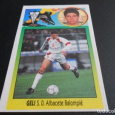 Cromos de Fútbol: GELI ADHESIVO ALBACETE CROMOS ALBUM EDICIONES ESTE LIGA FUTBOL 1993 1994 93 94. Lote 90440054