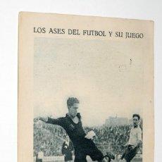 Cromos de Fútbol: LOS ASES DEL FUTBOL Y SU JUEGO. SERIE A. Nº 7. ALCÁNTARA EN UNO DE SUS FORMIDABLES TIROS A GOAL. Lote 91079685