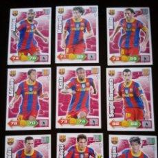 Cromos de Fútbol: ADRENALYN XL 2010 - 2011 LOTE 9 CROMOS DISTINTOS DEL BARCELONA. Lote 91995470