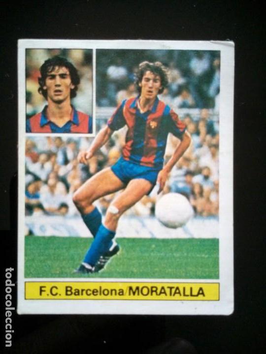 UF FICHAJE 7 MORATALLA BARCELONA. LIGA ESTE 1981 1982 81 82 DESPEGADO (Coleccionismo Deportivo - Álbumes y Cromos de Deportes - Cromos de Fútbol)