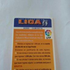 Cromos de Fútbol: LAS FICHAS DE LA LIGA 1995-1996, 95-96 MUNDICROMO - TARJETA BONO - CAMISETA. Lote 122241103