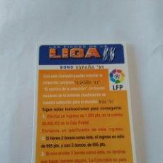 Cromos de Fútbol: LAS FICHAS DE LA LIGA 1995-1996, 95-96 MUNDICROMO - TARJETA BONO ESPAÑA '94. Lote 122241291