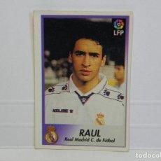 Cromos de Fútbol: CROMO CARTA BOLLYCAO 96-97 RAUL - REAL MADRID. Lote 92827025
