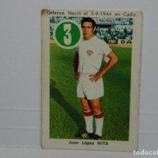 Cromos de Fútbol: CROMO CARTA ASES Y ESTRELLAS EDITORIAL FHER 1969 - HITA - SEVILLA. Lote 92829640