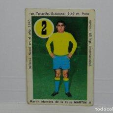 Cromos de Fútbol: CROMO CARTA ASES Y ESTRELLAS EDITORIAL FHER 1969 - MARTIN II - LAS PALMAS. Lote 92829905