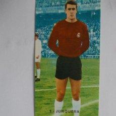 Cromos de Fútbol: LIGA 1968 68 1969 69 RUIZ ROMERO REAL MADRID Nº 1 JUNQUERA DOBLE RECUPERADO. Lote 92872885