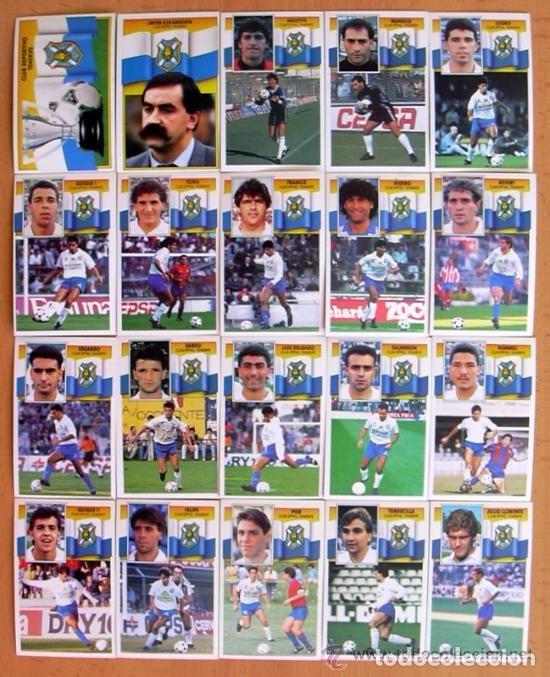 TENERIFE - EDICIONES ESTE 1990-91, 90-91 - COMPLETO, 20 CROMOS, NUNCA PEGADOS (Coleccionismo Deportivo - Álbumes y Cromos de Deportes - Cromos de Fútbol)