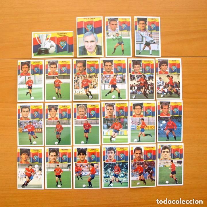 OSASUNA - EDICIONES ESTE 1990-1991, 90-91 - EQUIPO COMPLETO 22 CROMOS, NUNCA PEGADOS (Coleccionismo Deportivo - Álbumes y Cromos de Deportes - Cromos de Fútbol)