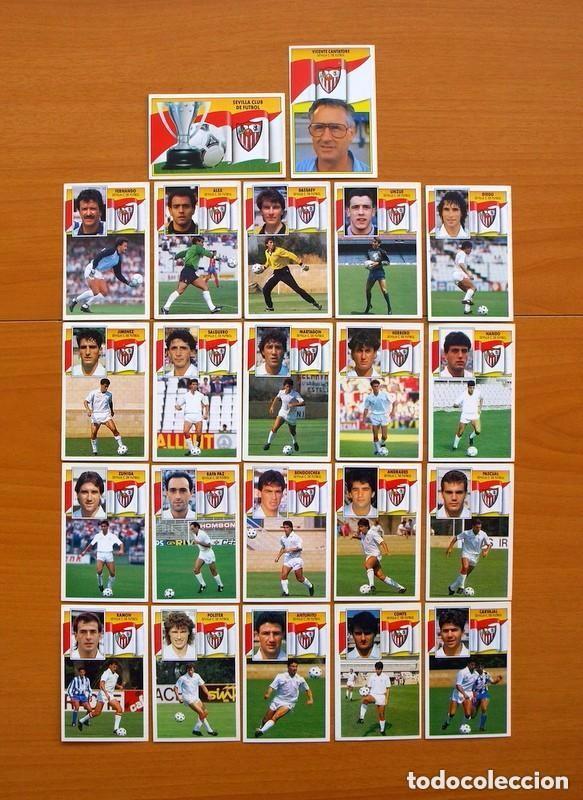 SEVILLA C.F. - EDICIONES ESTE 1990-91, 90-91- EQUIPO COMPLETO, 22 CROMOS, NUNCA PEGADOS (Coleccionismo Deportivo - Álbumes y Cromos de Deportes - Cromos de Fútbol)