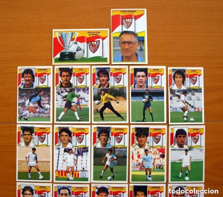 Cromos de Fútbol: Sevilla C.F. - Ediciones Este 1990-91, 90-91- Equipo completo, 22 cromos, nunca pegados - Foto 2 - 93184210