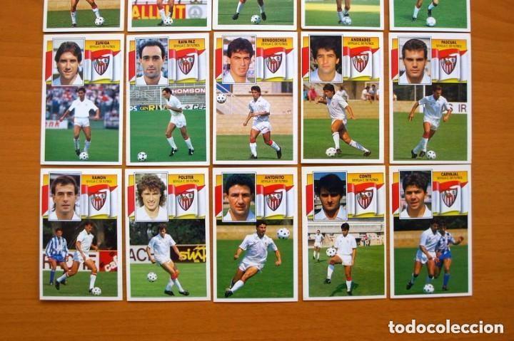 Cromos de Fútbol: Sevilla C.F. - Ediciones Este 1990-91, 90-91- Equipo completo, 22 cromos, nunca pegados - Foto 3 - 93184210