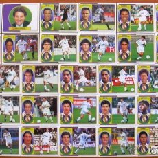 Cromos de Fútbol: REAL MADRID - EDICIONES ESTE 1996-1997, 96-97 - 33 CROMOS - COMPLETO CON SECRETARIO, NUNCA PEGADOS. Lote 93224620