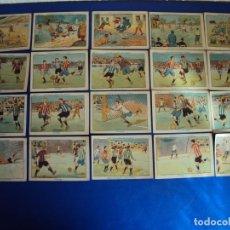 Cromos de Fútbol: (CHO-364)COLECCION COMPLETA DE 20 CROMOS - ¿ QUE ES EL FUTBOL ? - AÑOS 20. Lote 93365105