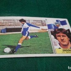 Cromos de Fútbol: CROMO ESTE 86 87 - ORDOKI , DEL SABADELL - NUNCA PEGADO ( PEDIDO MINIMO 5 EUROS ). Lote 93403765