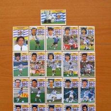 Cromos de Fútbol: VALLADOLID - EDICIONES ESTE 1990-1991, 90-91 - EQUIPO COMPLETO, 21 CROMOS NUNCA PEGADOS. Lote 93645180