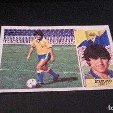 Cromos de Fútbol: CROMO ESTE 86 87 - DIEGUITO , DEL CADIZ - DESPEGADO ( PEDIDO MINIMO 5 EUROS ). Lote 93659510