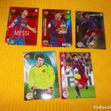 Cromos de Fútbol: CROMOS DE FUTBOL LOTE DE CINCO MESSI FC.BARCELONA. Lote 94138835