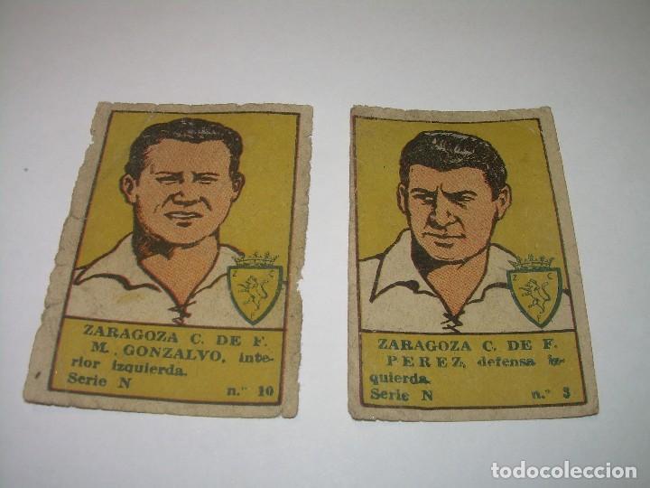 DOS CROMOS FUTBOL AÑOS. 20......ZARAGOZA C.F. (Coleccionismo Deportivo - Álbumes y Cromos de Deportes - Cromos de Fútbol)