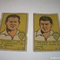 Cromos de Fútbol: DOS CROMOS FUTBOL AÑOS. 20......ZARAGOZA C.F.. Lote 94425614