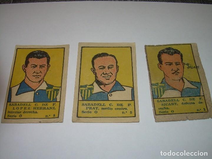 TRES CROMOS FUTBOL AÑOS. 20.......SABADELL C.F. (Coleccionismo Deportivo - Álbumes y Cromos de Deportes - Cromos de Fútbol)
