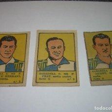 Cromos de Fútbol: TRES CROMOS FUTBOL AÑOS. 20.......SABADELL C.F.. Lote 94438434