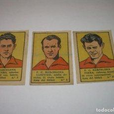 Cromos de Fútbol: TRES CROMOS FUTBOL AÑOS. 20-C.F. BARCELONA-ALCANTARA-SAMITIER-PIERA. Lote 94440206
