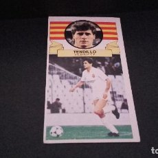 Cromos de Fútbol: CROMO ESTE 85 86 - TENDILLO , DEL VALENCIA - NUNCA PEGADO ( PEDIDO MINIMO 5 EUROS ). Lote 94498482