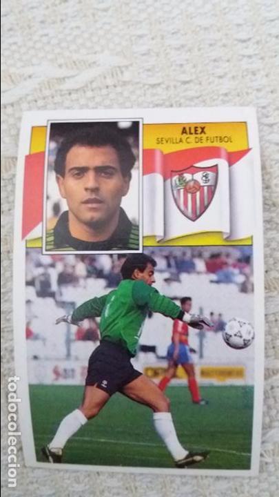 90/91 ESTE. NUNCA PEGADO BAJA SEVILLA ALEX (Coleccionismo Deportivo - Álbumes y Cromos de Deportes - Cromos de Fútbol)