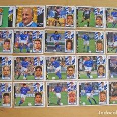 Cromos de Fútbol: ED.ESTE 97-98 EQUIPO COMPLETO DEL OVIEDO (TODO LO EDITADO). Lote 94963771