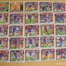 Cromos de Fútbol: ED.ESTE 97-98 EQUIPO COMPLETO DEL BARCELONA (TODO LO EDITADO). Lote 94963819