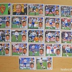 Cromos de Fútbol: ED.ESTE 97-98 EQUIPO COMPLETO DEL ZARAGOZA (TODO LO EDITADO). Lote 94963943