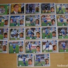 Cromos de Fútbol: ED.ESTE 97-98 EQUIPO COMPLETO DEL DEPORTIVO (TODO LO EDITADO). Lote 94964275