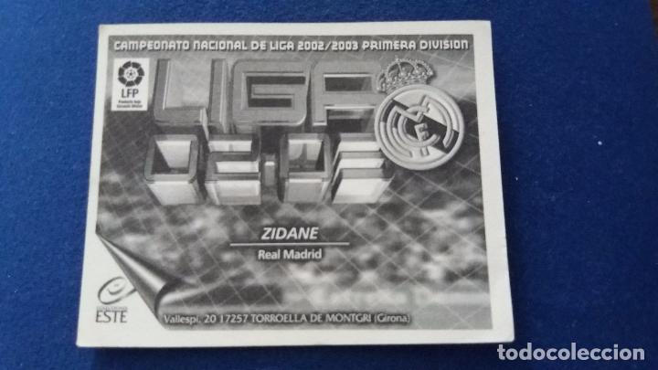Cromos de Fútbol: 02/03 ESTE. NUNCA PEGADO REAL MADRID zidane - Foto 2 - 95001927