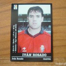 Cromos de Fútbol: CROMO PANINI LIGA FUTBOL 2000 2001 Nº 320 IVAN ROSADO (OSASUNA) - SIN PEGAR - 00 01. Lote 95441383
