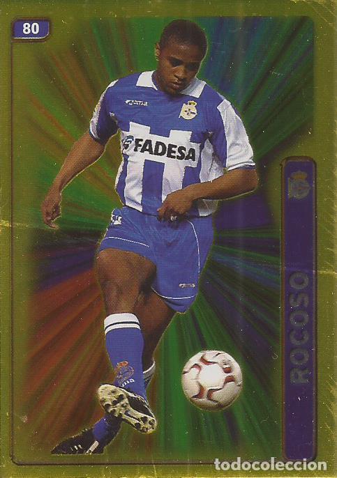 2004-2005 - 80 ANDRADE (BRILLO LISO) - DEPORTIVO DE LA CORUÑA - MUNDICROMO LAS FICHAS DE LA LIGA (Coleccionismo Deportivo - Álbumes y Cromos de Deportes - Cromos de Fútbol)