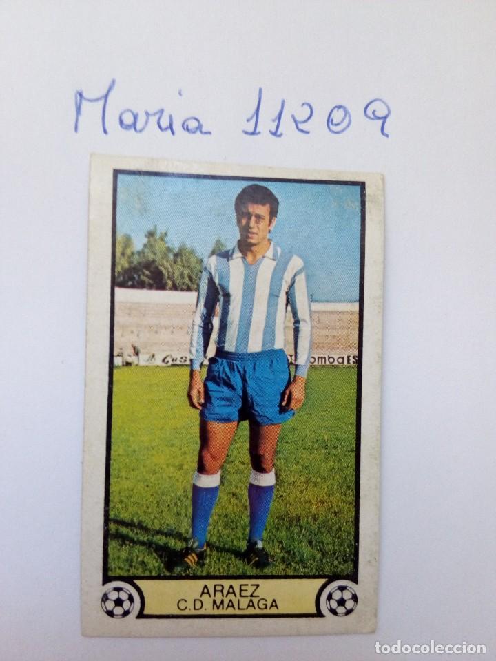 ESTE 79 80 ARAEZ DEL C.D.MALAGA (Coleccionismo Deportivo - Álbumes y Cromos de Deportes - Cromos de Fútbol)