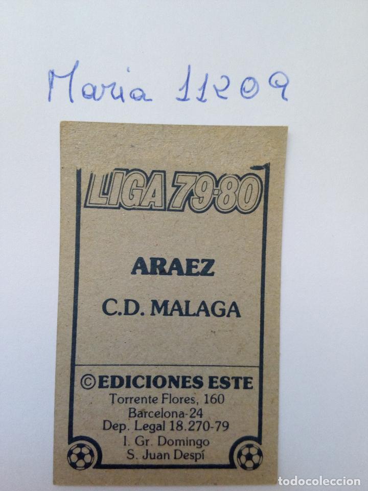 Cromos de Fútbol: Este 79 80 araez del c.d.malaga - Foto 2 - 95468611