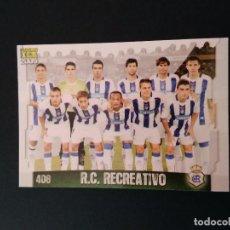 Cromos de Fútbol: LAS FICHAS DE LA LIGA 2009 MUNDICROMO - RECREATIVO DE HUELVA: ALINEACIÓN & HIMNO (Nº 408). Lote 95712103
